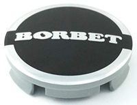 1x Original Borbet Nabendeckel | Felgendeckel | Nabenkappe Anthrazit Glanz Silber Center Cap 56mm NEU!