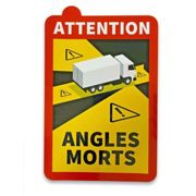 30 x Aufkleber Toter Winkel ANGLES MORTS LKW >3,5 t Made in Germany TOP-Qualität