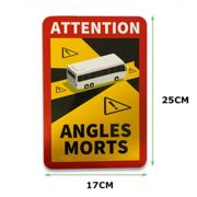 5 x Aufkleber Toter Winkel ANGLES MORTS BUS >3,5 t Made in Germany TOP-Qualität