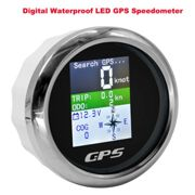 85mm Universal Auto LKW Boot Digital wasserdicht LED GPS Tachometer Voltmeter