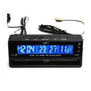 Digital LCD Auto Uhr Thermometer Temperatur Spannungsmesser 04