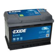 Exide EB740 Excell 74Ah 680A Autobatterie 7,50 EUR Pfand