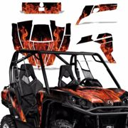 Grafik Set Can-Am Commander Aufkleber Utv Max Wrap 800r 800/1000 Eis Orange