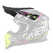 O'neal 2 Series Synthy Youth Kinder Visor Helm Visier schwarz/gelb/pink Oneal