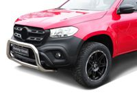 Stainless steel Bullbar Frontbar with skidplate MB X-Class with EC-confirmation