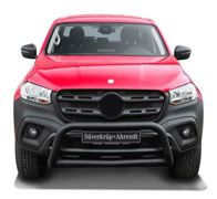 Black steel Bullbar Frontbar with skidplate MB X-Class with EC-confirmation