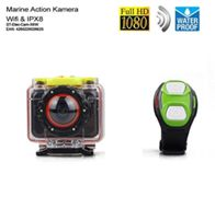 Wasserfeste Kamera für Bootssport Wassersport Segeln ActionCam Dashcam IPX8 Wireless Remote Apple iOs Tablet Android App bis 32GB Film Foto mit Uhr Fernbedienung WiFi SD HD 1080P Full HD 170 Grad